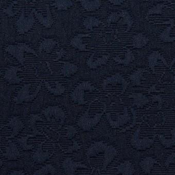 ポリエステル×フラワー(ネイビー)×フクレジャガード_全2色