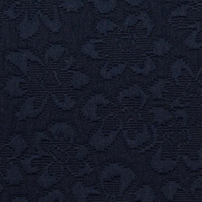 ポリエステル×フラワー(ネイビー)×フクレジャガード_全2色 イメージ1