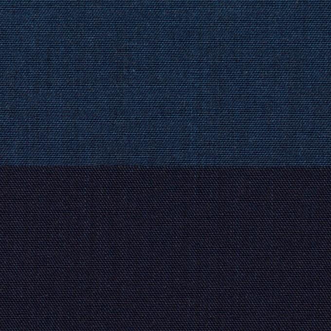 コットン×ボーダー(インディゴ)×キャンバス イメージ1