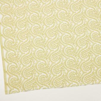 コットン×幾何学模様(イエローマスカット&オフホワイト)×Wガーゼ刺繍_全4色 サムネイル2