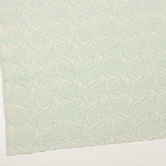 コットン×幾何学模様(シャーベットグリーン&エクリュ)×Wガーゼ刺繍_全4色 サムネイル2