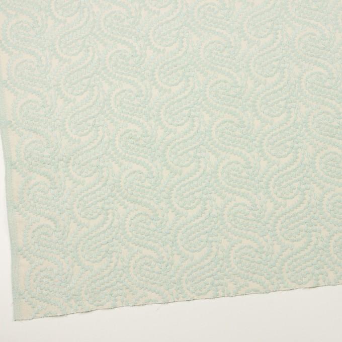 コットン×幾何学模様(シャーベットグリーン&エクリュ)×Wガーゼ刺繍_全4色 イメージ2