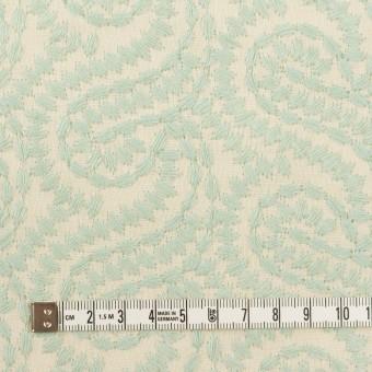 コットン×幾何学模様(シャーベットグリーン&エクリュ)×Wガーゼ刺繍_全4色 サムネイル4