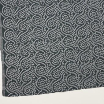 コットン×幾何学模様(グレー&チャコールグレー)×Wガーゼ刺繍_全4色 サムネイル2