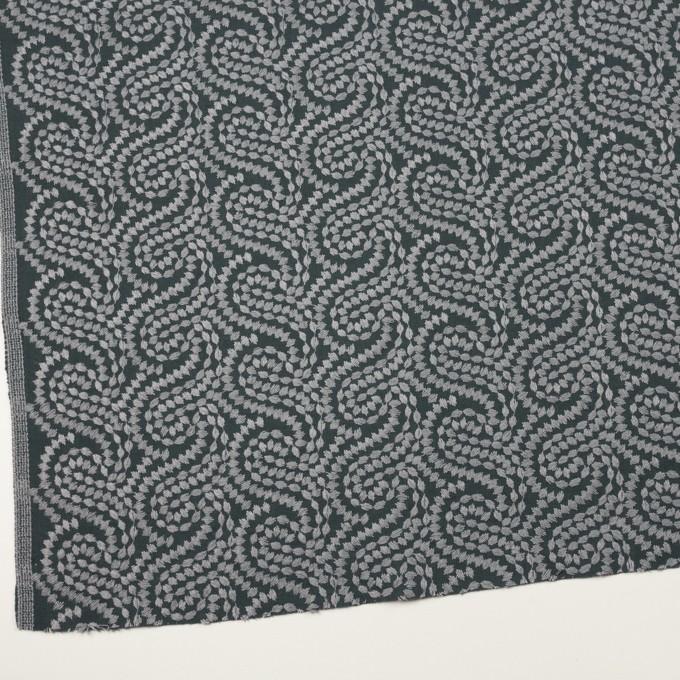 コットン×幾何学模様(グレー&チャコールグレー)×Wガーゼ刺繍_全4色 イメージ2