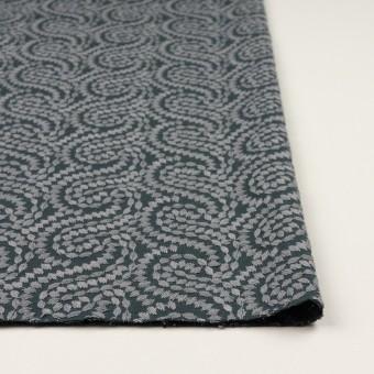 コットン×幾何学模様(グレー&チャコールグレー)×Wガーゼ刺繍_全4色 サムネイル3