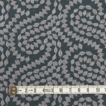 コットン×幾何学模様(グレー&チャコールグレー)×Wガーゼ刺繍_全4色 サムネイル4