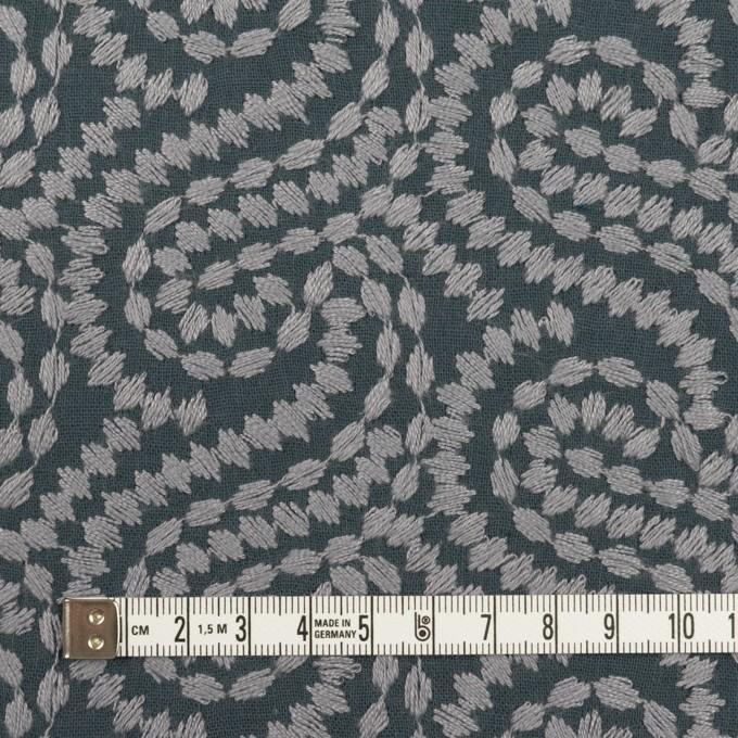 コットン×幾何学模様(グレー&チャコールグレー)×Wガーゼ刺繍_全4色 イメージ4