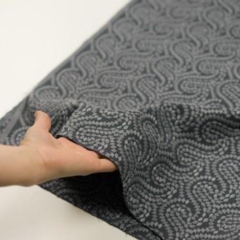 コットン×幾何学模様(グレー&チャコールグレー)×Wガーゼ刺繍_全4色 サムネイル5