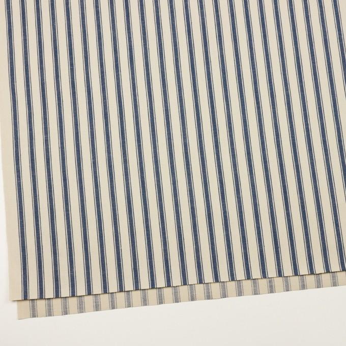 コットン×ストライプ(キナリ&インディゴ)×ヘリンボーン イメージ2