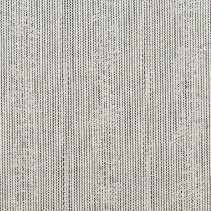 ポリエステル×ストライプ(チャコール)×ジャガード_全3色 イメージ1