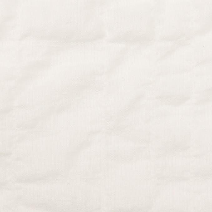コットン&テンセル混×無地(ホワイト)×ボイルシャーリング イメージ1