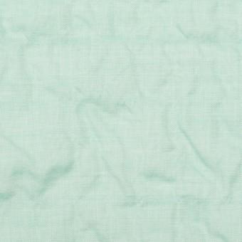 コットン&テンセル混×無地(シャーベットグリーン)×シャンブレー・シャーリング_全2色