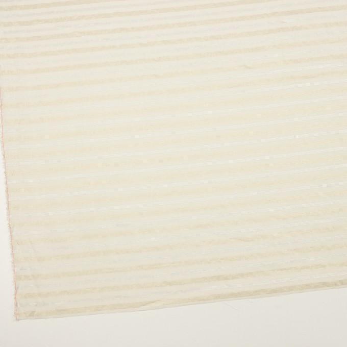 コットン&ポリエステル×ボーダー(エクリュ、シルバー&ゴールド)×ボイル イメージ2