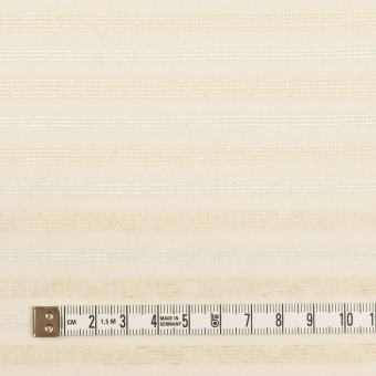 コットン&ポリエステル×ボーダー(エクリュ、シルバー&ゴールド)×ボイル サムネイル4