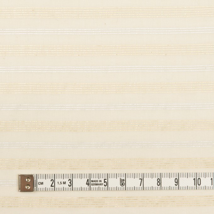 コットン&ポリエステル×ボーダー(エクリュ、シルバー&ゴールド)×ボイル イメージ4