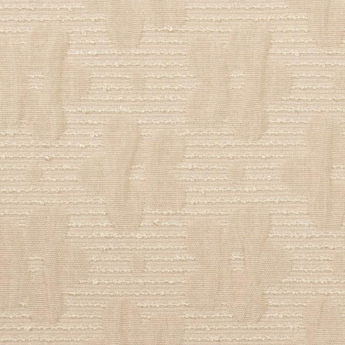 ポリエステル&レーヨン×フラワー(シャンパンゴールド)×フクレジャガード イメージ1