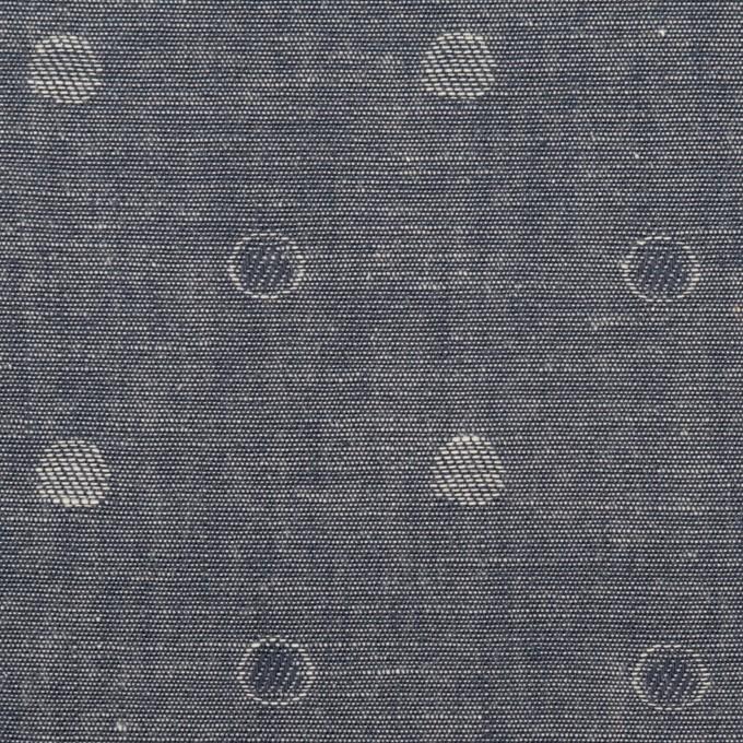 コットン×水玉(インディゴ)×ダンガリー・ジャガード イメージ1