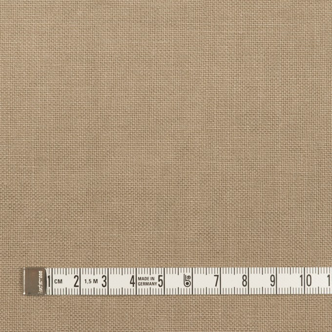 リネン×無地(スモーキーベージュ)×厚オックスフォード_全6色 イメージ4