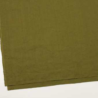 リネン×無地(カーキグリーン)×厚オックスフォード_全6色 サムネイル2