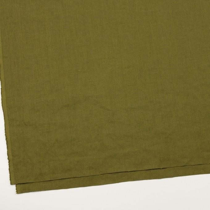リネン×無地(カーキグリーン)×厚オックスフォード_全6色 イメージ2