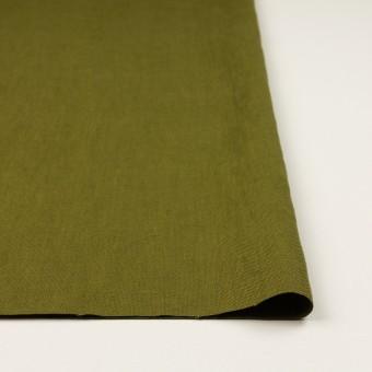 リネン×無地(カーキグリーン)×厚オックスフォード_全6色 サムネイル3