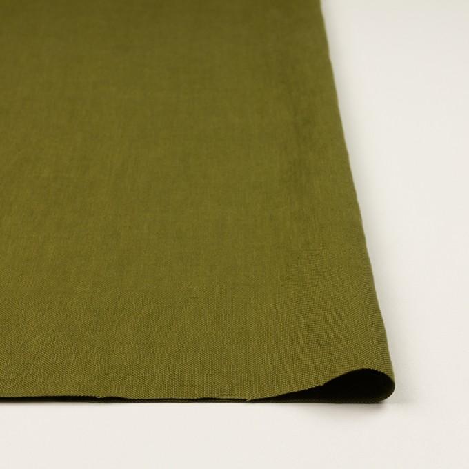 リネン×無地(カーキグリーン)×厚オックスフォード_全6色 イメージ3