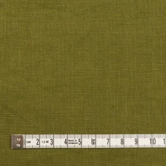 リネン×無地(カーキグリーン)×厚オックスフォード_全6色 サムネイル4