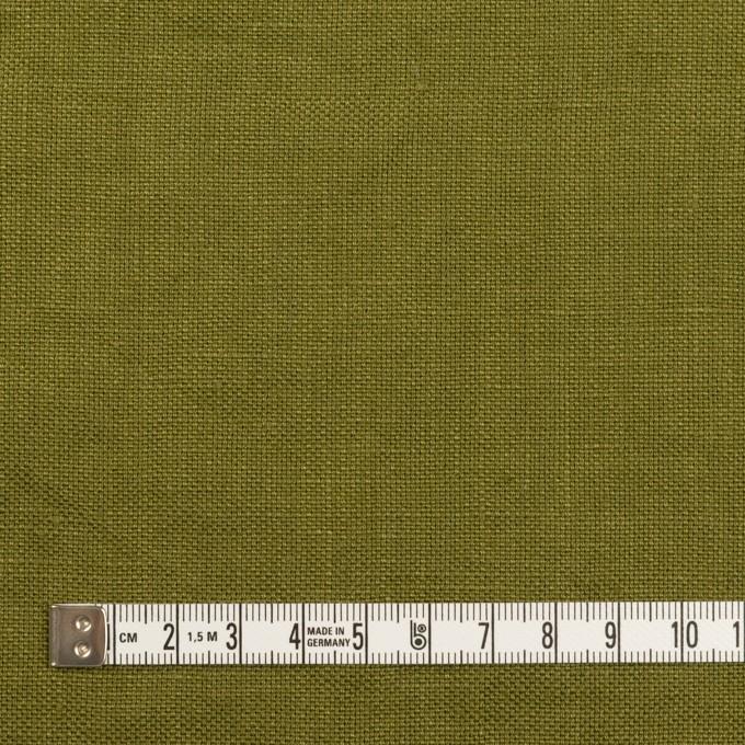 リネン×無地(カーキグリーン)×厚オックスフォード_全6色 イメージ4