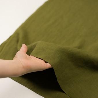 リネン×無地(カーキグリーン)×厚オックスフォード_全6色 サムネイル5