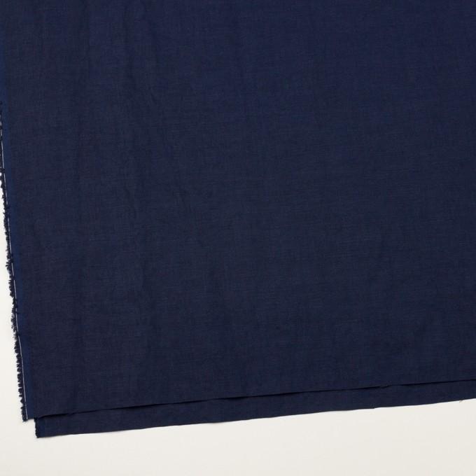 リネン×無地(ネイビー)×厚オックスフォード_全6色 イメージ2