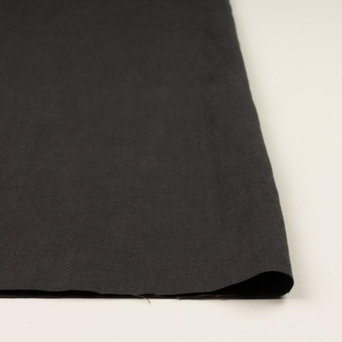 リネン×無地(チャコール)×厚オックスフォード_全6色 イメージ3