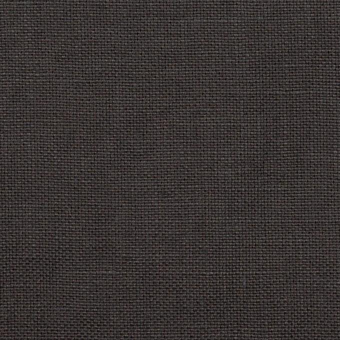 リネン×無地(チャコール)×厚オックスフォード_全6色 イメージ1