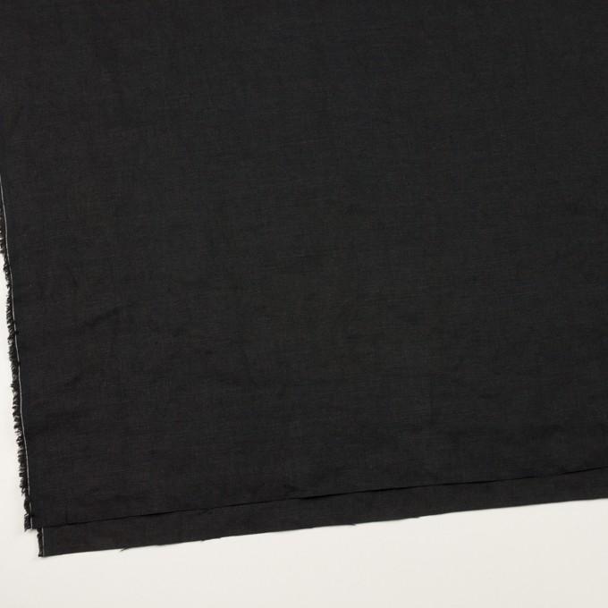リネン×無地(ブラック)×厚オックスフォード_全6色 イメージ2