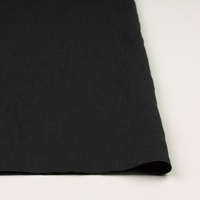リネン×無地(ブラック)×厚オックスフォード_全6色 イメージ3