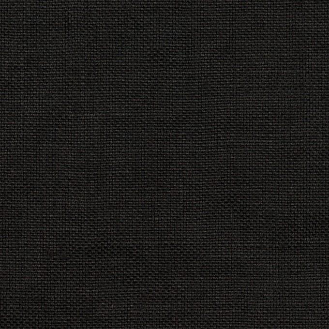 リネン×無地(ブラック)×厚オックスフォード_全6色 イメージ1