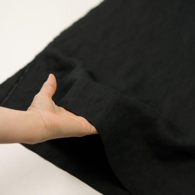 リネン×無地(ブラック)×厚オックスフォード_全6色 イメージ5