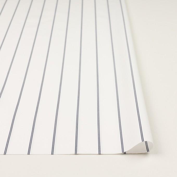 コットン&ポリエステル×ストライプ(ホワイト&ネイビー)×ブロード イメージ3