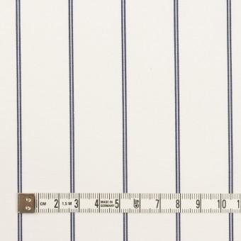 コットン&ポリエステル×ストライプ(ホワイト&ネイビー)×ブロード サムネイル4