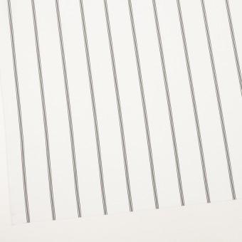 コットン×ストライプ(ホワイト&ブラック)×ローン サムネイル2