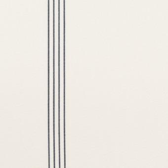 コットン&テンセル×ストライプ(オフホワイト&ネイビー)×ブロード サムネイル1