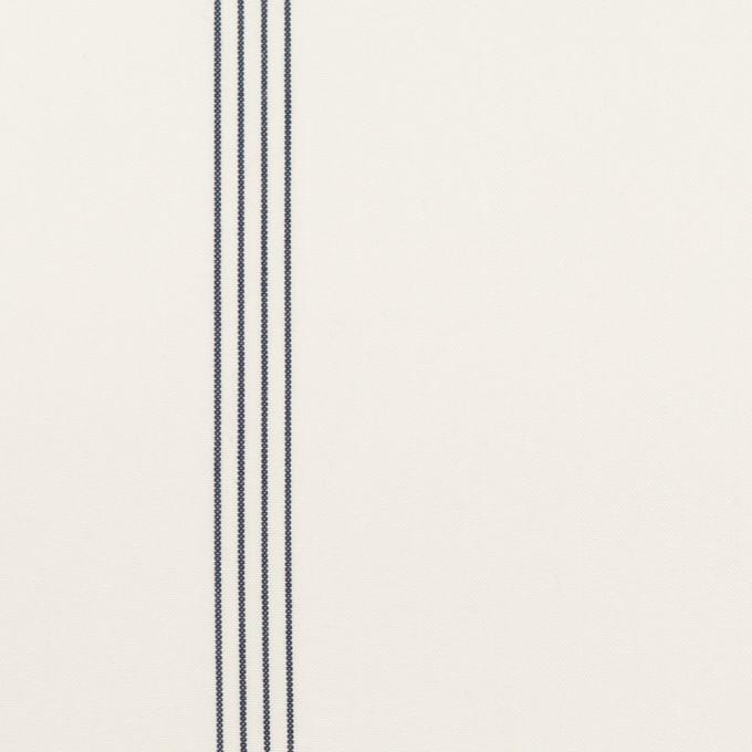 コットン&テンセル×ストライプ(オフホワイト&ネイビー)×ブロード イメージ1