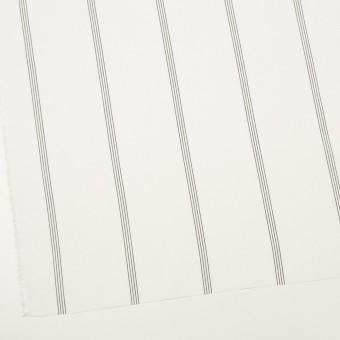 コットン&レーヨン×ストライプ(ミルク&ブラック)×ポプリン サムネイル2