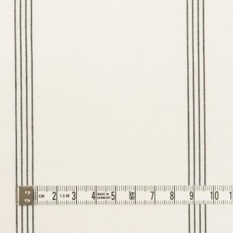 コットン&レーヨン×ストライプ(ミルク&ブラック)×ポプリン サムネイル4