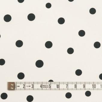 コットン×水玉(オフホワイト&ブラック)×タイプライター(高密ローン) サムネイル4