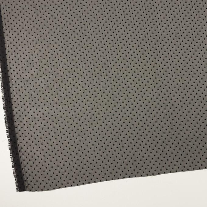 ポリエステル×ドット(ブラック)×クレープジョーゼット_フロッキー イメージ2