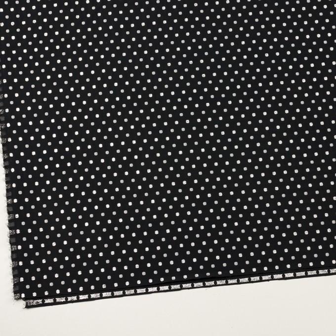 ポリエステル&ナイロン×ドット(ブラック&シルバー)×ポプリンドビー イメージ2