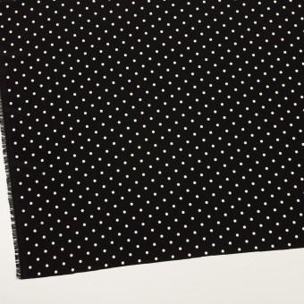 ポリエステル×水玉(ブラック&オフホワイト)×サテン サムネイル2