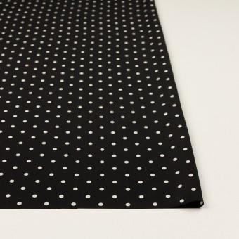 ポリエステル×水玉(ブラック&オフホワイト)×サテン サムネイル3