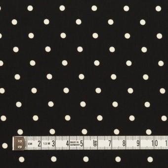 ポリエステル×水玉(ブラック&オフホワイト)×サテン サムネイル4